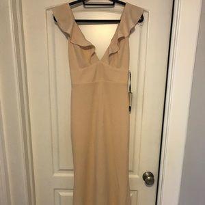 Lulus pale blush maxi dress